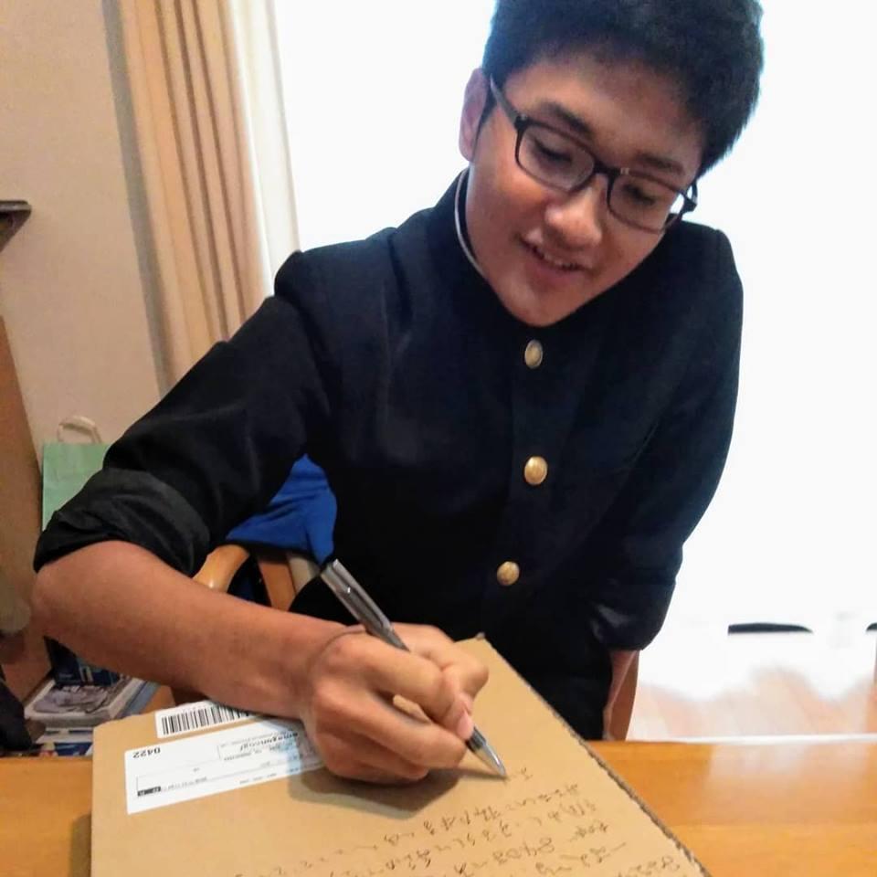 長男 会長スピーチ練習_c0189426_08460911.jpg