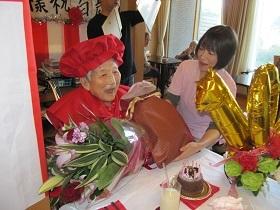 100歳お誕生会_e0163042_16075174.jpg