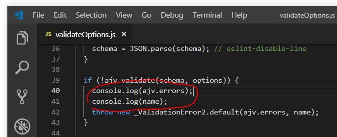 npm パッケージのバージョンを上げてたら webpack 実行時に _ValidationError2.default 例外が発生_d0079457_22161070.png