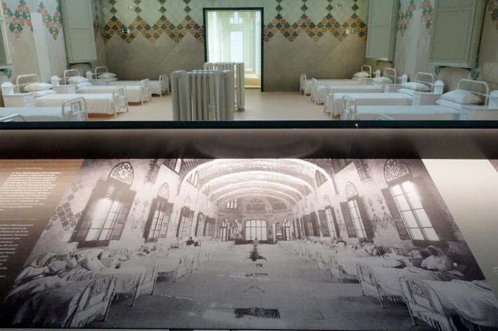 サン・パウ病院 Hospital de Sant Pau リュイス・ドメネク・イ・ムンタネー Sant Pau Recinte Modernista 世界遺産 2018年9月 バルセロナの旅(4)_f0117059_16240135.jpg