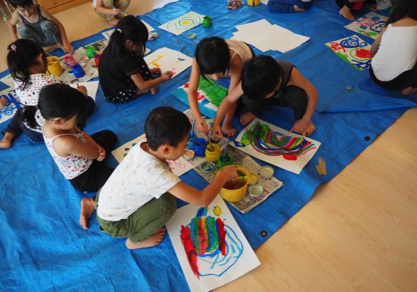 5歳児 絵の具遊び_b0068572_09153389.jpg