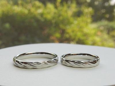 木がモチーフの結婚指輪 オーダーメイド | 岡山_d0237570_14514256.jpg