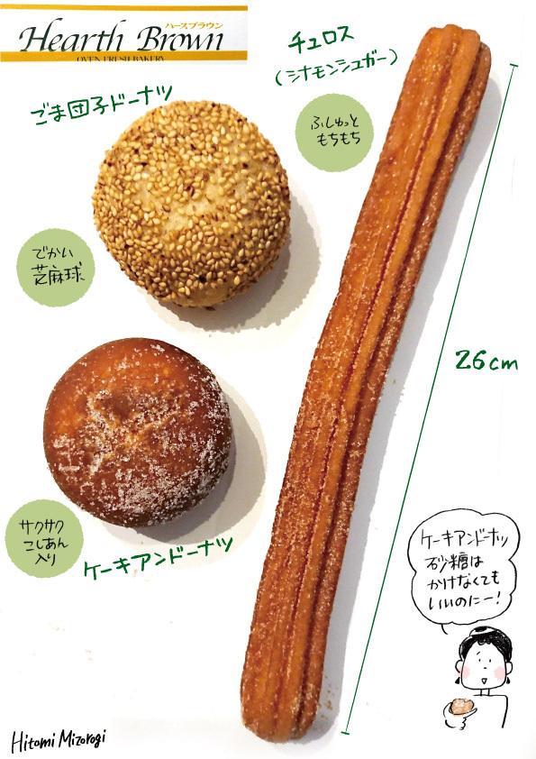 【ベーカリーチェーン】ハースブラウンのドーナツ3種【ケーキアンドーナツに砂糖はいらない】_d0272182_12332460.jpg