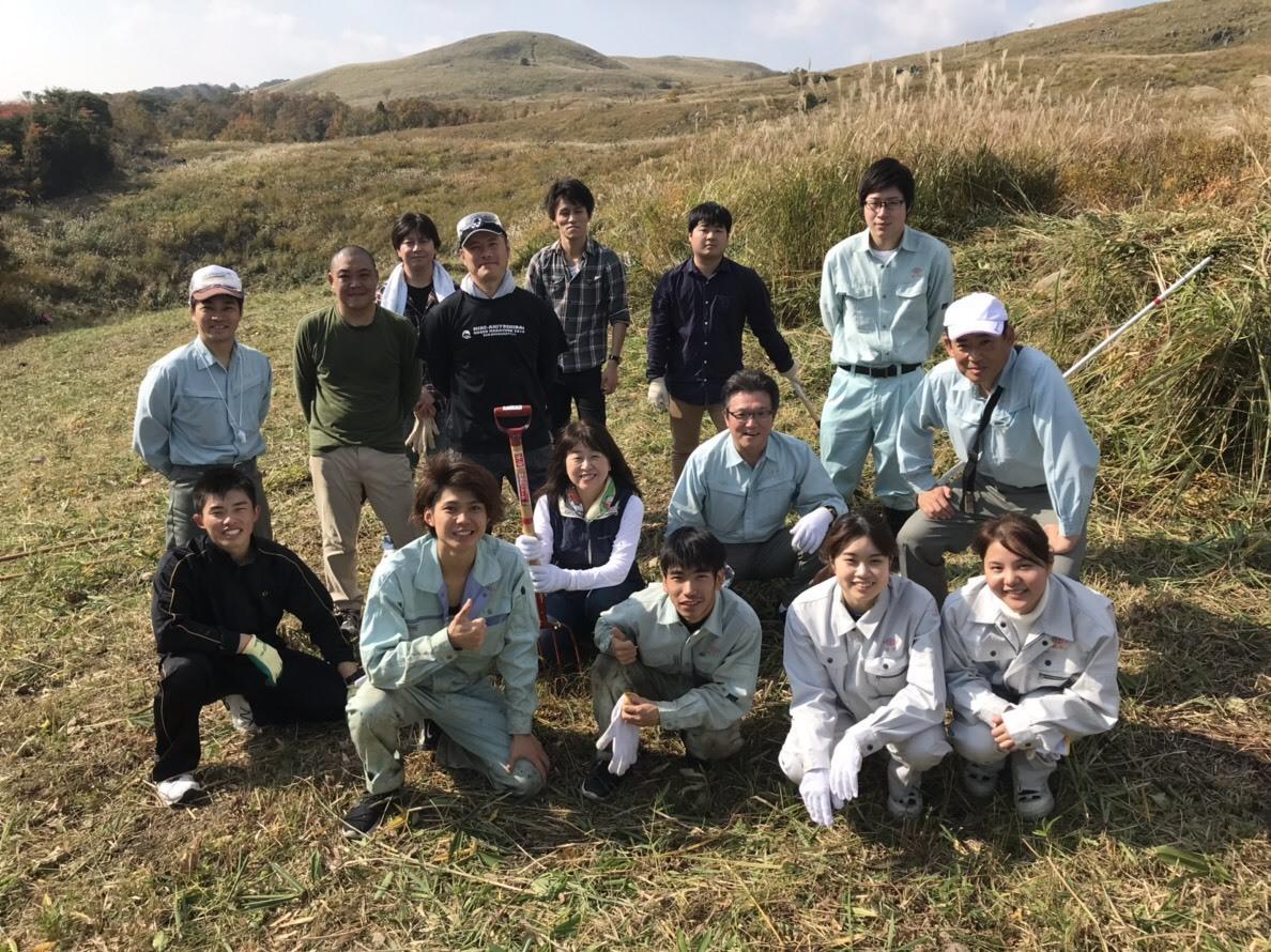 11月10日 秋吉台の「火道切り」ボランティアに参加しました。_c0104626_07092340.jpg