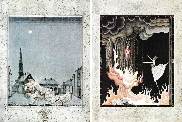カイ・ニールセン画:アンデルセン童話から「火打箱」と「錫の兵隊」_c0084183_11132644.jpg