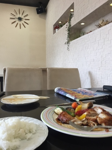 cafe & restaurant アンドリュース  グリルチキンジンジャーソース_e0115904_04205762.jpg