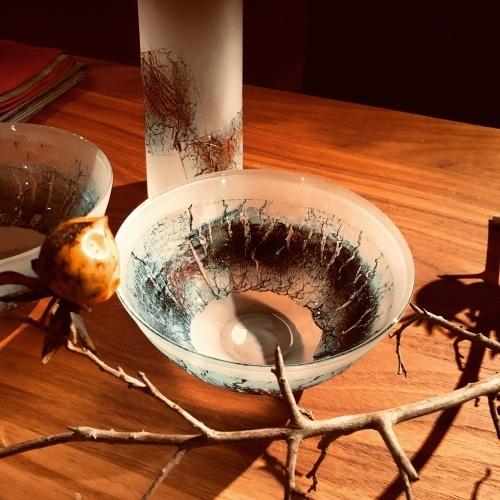 本日より、熊谷正行 吹き硝子展 始まります_c0218903_19461172.jpeg