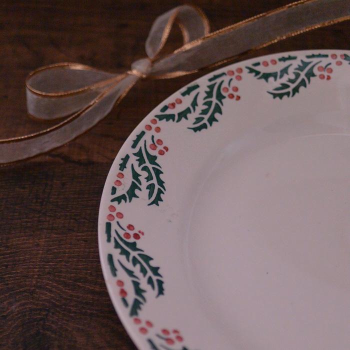 ◆フランスアンティーク*クリスマスに大活躍♪クレイユ&モントローのノエルプレート_f0251032_17024709.jpg