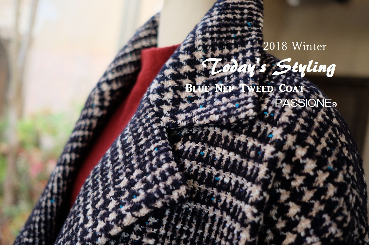 """Today\'s Styling~Blue Nep Tweed Coat。。。...11/14wed""_d0153941_17425112.jpg"