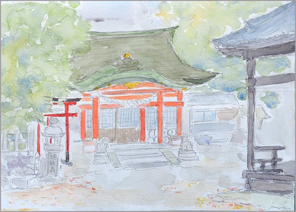 淡彩風景画講座・12月のテーマ「寺院を描く」ご紹介_b0212226_10444921.jpg