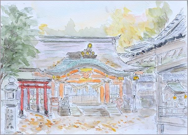 淡彩風景画講座・12月のテーマ「寺院を描く」ご紹介_b0212226_10444972.jpg