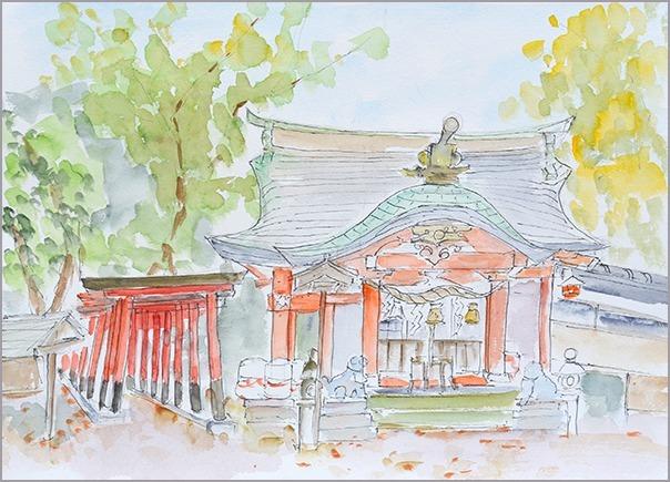 淡彩風景画講座・12月のテーマ「寺院を描く」ご紹介_b0212226_10445080.jpg