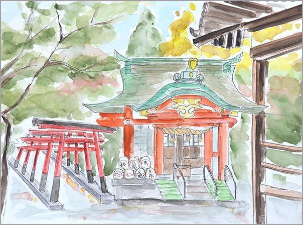 淡彩風景画講座・12月のテーマ「寺院を描く」ご紹介_b0212226_10445088.jpg