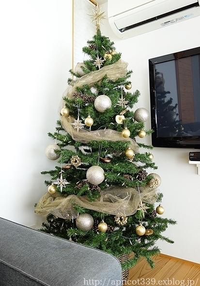 リビングの模様替え クリスマスツリーと長男の掛け軸_c0293787_15433590.jpg