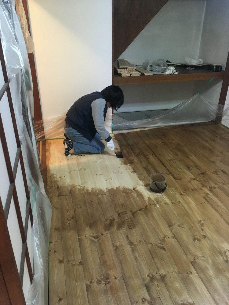 事務所の床塗装 ビフォーアフター_b0349892_17524323.jpg