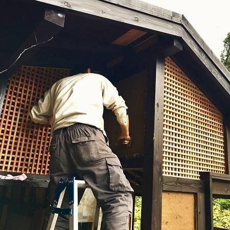 木工小屋の整備  2018.11.16_c0213599_12575548.jpg
