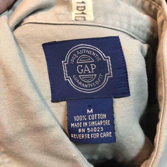 11月16日(金)入荷!90s OLD GAP ツイルシャツ! _c0144020_13505117.jpg