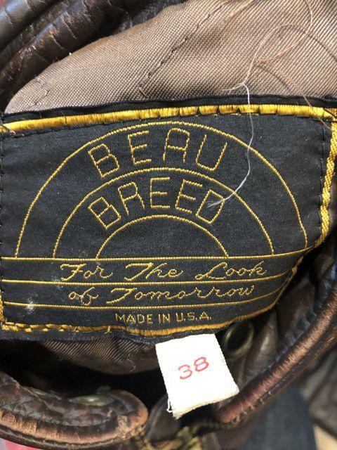 11月17日(土)入荷! BEAU BREED シングルライダースジャケット!_c0144020_14500688.jpg