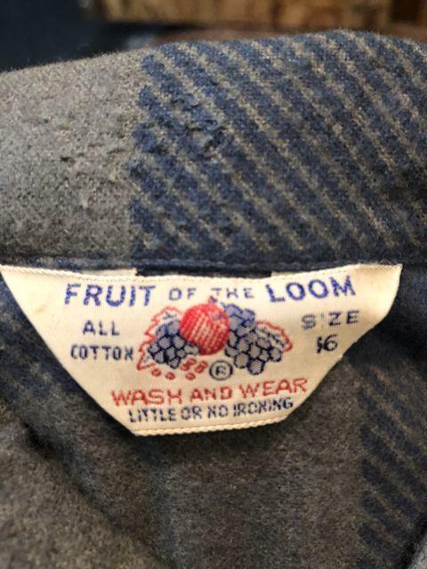 11月17日(土)入荷!60s all cotton デッドストック フルーツ オブ ザ ルーム プリントネルシャツ!_c0144020_14524025.jpg