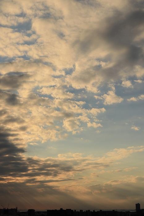 低い層積雲からの光の筋_b0268615_7415167.jpg
