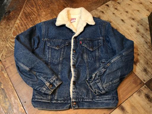 11月18日(日)入荷!80s Made in U.S.A Levi\'sリーバイス 70608 ボア デニムジャケット _c0144020_13305404.jpg