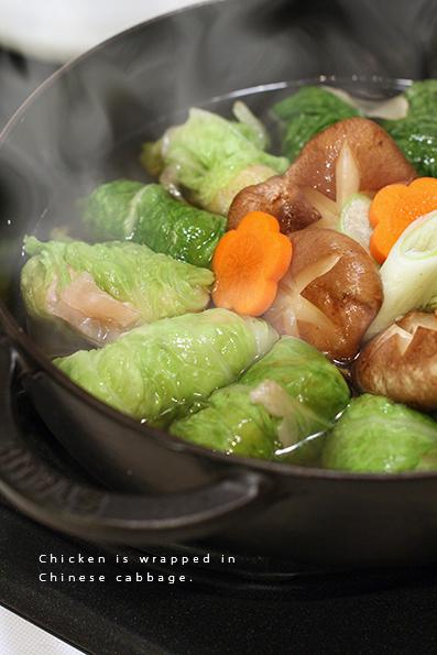 白菜ロール鍋_e0137277_20495063.jpg