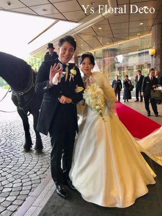 ユリとバラのキャスケードブーケ ウェスティンホテル東京の新婦さんへ_b0113510_18302983.jpg