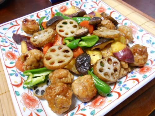 根菜のオイスターソース炒め&もやしのキムチ和え_f0019498_08515544.jpg