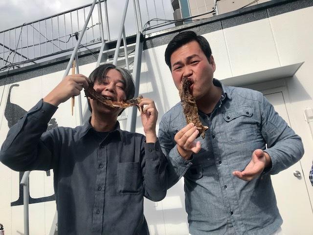 GOGOパクチー、本気のイノシシまるごとを焼く。in private miumiu_a0050302_00171418.jpg