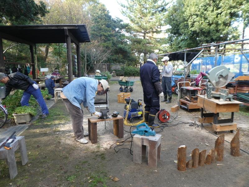 木のツリー試作・イベント準備・・・うみべの森_c0108460_19245213.jpg