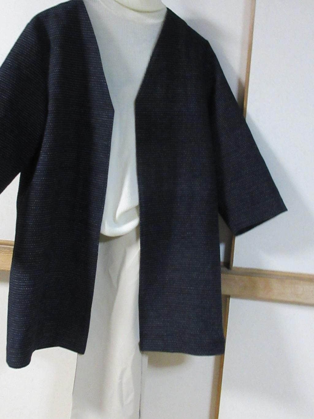 紺絣刺し子のコートが出来た_a0203003_19391568.jpg