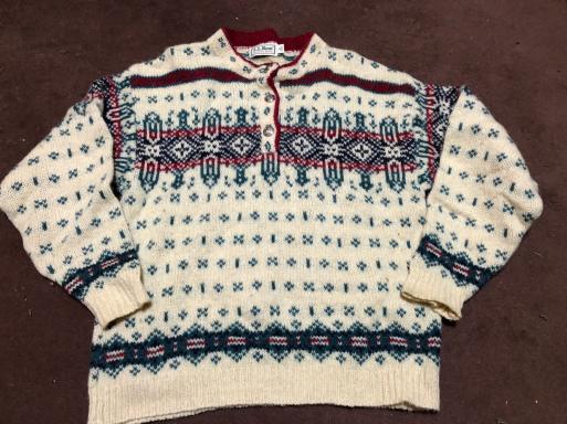 アメリカ仕入れ情報#1  80s  Made in USA L.L bean ヘンリーネックセーター_c0144020_12380563.jpg