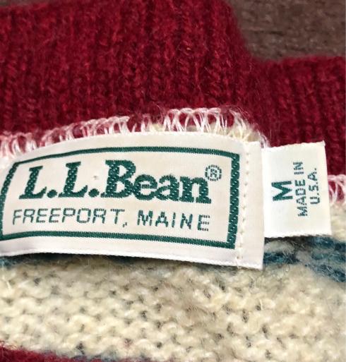 アメリカ仕入れ情報#1  80s  Made in USA L.L bean ヘンリーネックセーター_c0144020_12411826.jpg