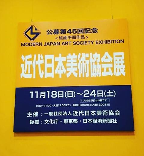 公募展 第45回「近代日本美術協会展」が無事に終了しました。(Activity report.)_e0224057_15562382.jpg