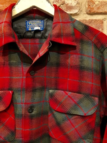 "Late 1960s "" PENDLETON WOOLEN MILLS \"" 100% worsted WOOL VINTAGE CHECK SHIRTS ._d0172088_20180288.jpg"