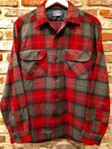 "Late 1960s "" PENDLETON WOOLEN MILLS \"" 100% worsted WOOL VINTAGE CHECK SHIRTS ._d0172088_20225716.jpg"