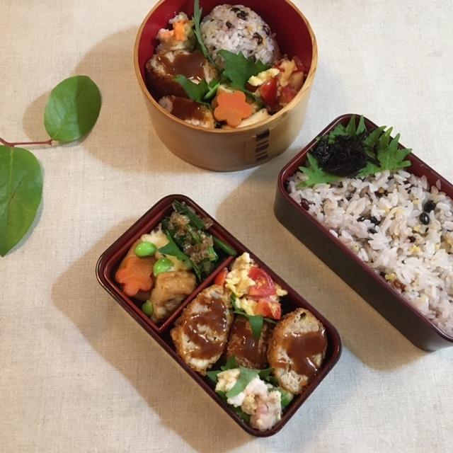Lunch box ×2 元は同じ材料で♪_a0165160_09463230.jpg