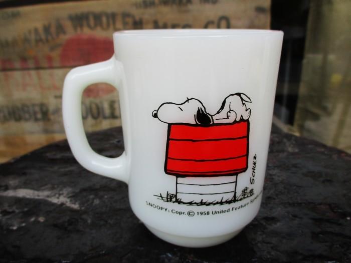 Fire King Snoopy Mug Morning Allergy_e0187362_11241407.jpg
