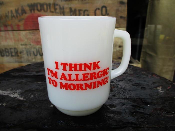 Fire King Snoopy Mug Morning Allergy_e0187362_11251695.jpg