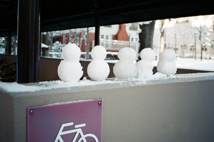 融けてしまったマンションの初雪_c0182775_1748440.jpg