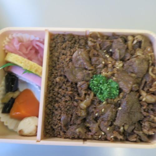 明治150年・日本を変えた「千の技術博」の見学前は、駅弁「牛肉どまん中」を頂く_c0075701_21442763.jpg
