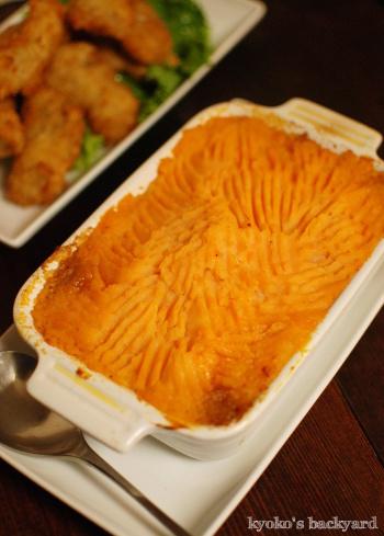 ターキーサンドイッチ。カキフライ、コテージパイ。なんちゃって焼豚(リメイク4日目)_b0253205_10012635.jpg