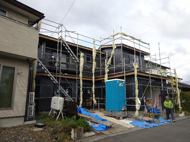 盛岡市乙部 フルリフォームの現場 大工工事進行中。_f0105112_04484412.jpg