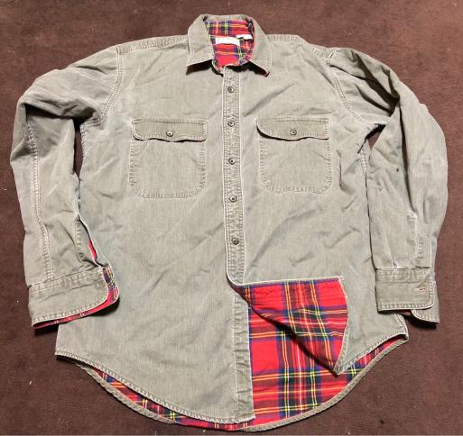 アメリカ仕入れ情報#6  Made in USA 80s L.L bean 裏ネル付き コットンシャツ!_c0144020_10375973.jpg