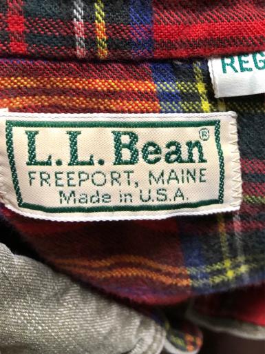 アメリカ仕入れ情報#6  Made in USA 80s L.L bean 裏ネル付き コットンシャツ!_c0144020_10420221.jpg