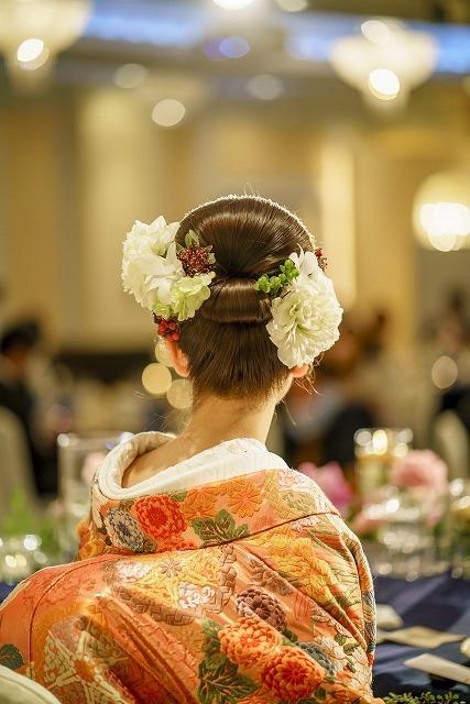 卒花嫁様アルバム ホテル椿山荘東京の花嫁様へ 白無垢と色打掛、和装のダリアのブーケ_a0042928_17153772.jpg