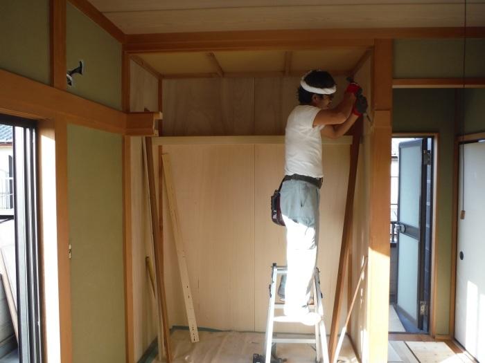 和室リフォーム ~ 二部屋目のクローゼット工事_d0165368_05242821.jpg