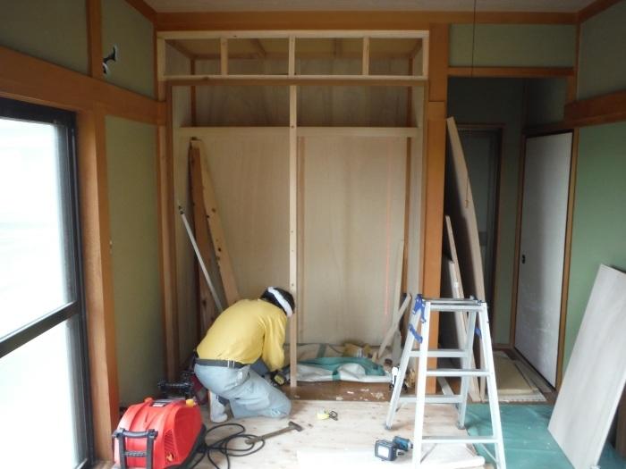 和室リフォーム ~ 二部屋目のクローゼット工事_d0165368_05244112.jpg