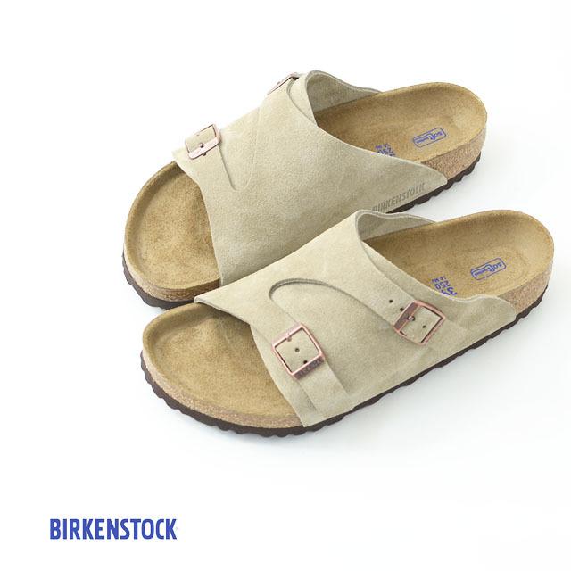 BIRKENSTOCK [ビルケンシュトック正規販売店] ZURICH SOFT FOOTBED TAUPE [GC1009532] 本革 ベロア チューリッヒ タープ スウェード MEN\'S_f0051306_18082511.jpg