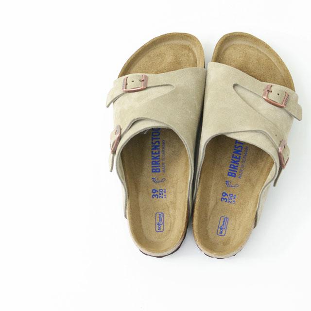 BIRKENSTOCK [ビルケンシュトック正規販売店] ZURICH SOFT FOOTBED TAUPE [GC1009532] 本革 ベロア チューリッヒ タープ スウェード MEN\'S_f0051306_18082803.jpg